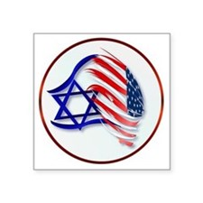 "Stand With Isreal Circle Tr Square Sticker 3"" x 3"""