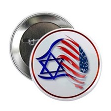 """Stand With Isreal Circle Trans- 2.25"""" Button"""