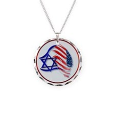 Stand With Isreal Circle Tra Necklace
