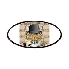 Victorian Steampunk Cat Derby Hat Pipe Collage Pat