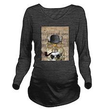 Victorian Steampunk Cat Derby Hat Pipe Collage Lon