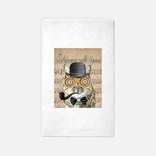 Victorian Steampunk Cat Derby Hat Pipe Collage 3'x