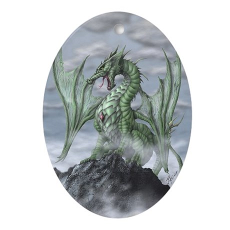 Misty Mountain Oval Ornament