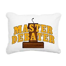 Master Debater Rectangular Canvas Pillow