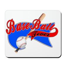 BaseBall Fever Flaged Blue Grey Mousepad