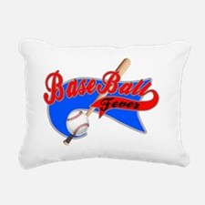 BaseBall Fever Flaged Bl Rectangular Canvas Pillow