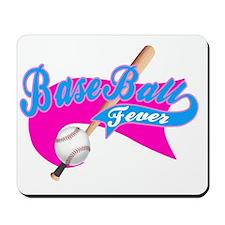 BaseBall Fever Flaged Hotpink Pink Mousepad