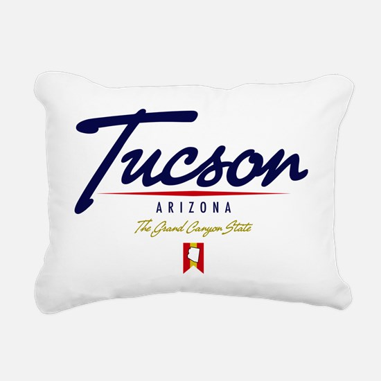 Tucson Script W Rectangular Canvas Pillow