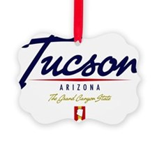 Tucson Script W Ornament