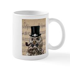 Victorian Steampunk Owl Sheet Music Mugs