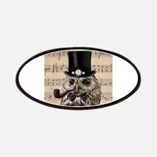 Victorian Steampunk Owl Sheet Music Patches