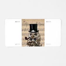 Victorian Steampunk Owl Sheet Music Aluminum Licen