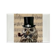 Victorian Steampunk Owl Sheet Music Magnets