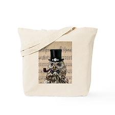 Victorian Steampunk Owl Sheet Music Tote Bag