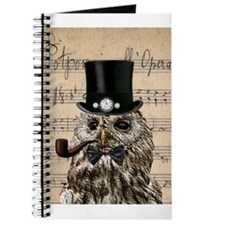 Victorian Steampunk Owl Sheet Music Journal