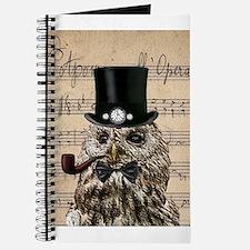 Victorian Steampunk Owl Sheet Music Journal