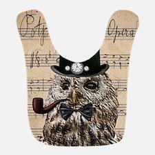 Victorian Steampunk Owl Sheet Music Bib