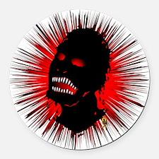 zombie-head-2 Round Car Magnet