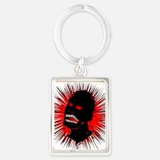 zombie-head-2 Portrait Keychain
