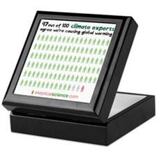 97 out of 100 climate experts Keepsake Box