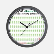 97 out of 100 climate experts Wall Clock