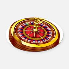 Roulette Wheel Oval Car Magnet