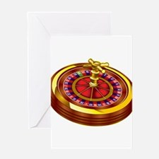 Roulette Wheel Greeting Cards