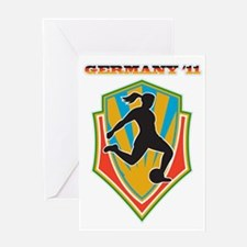 soccer woman germany 2011 Greeting Card