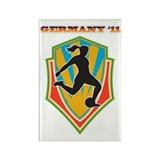 soccer woman germany 2011 Rectangle Magnet