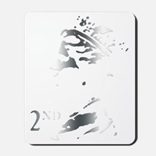 Silver postage stamp Mousepad