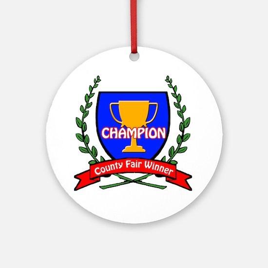 county fair LOGO Round Ornament
