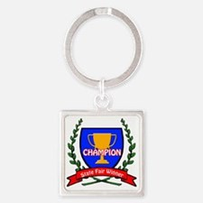 state fair Square Keychain