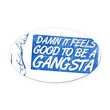 gangsta3 Oval Car Magnet