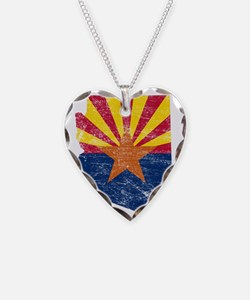 Arizona Flag Map Necklace