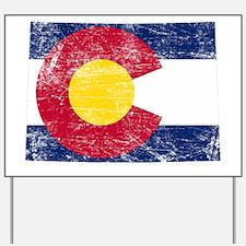 Colorado Flag Map Yard Sign