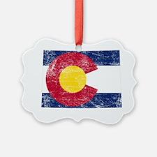 Colorado Flag Map Ornament