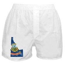 Idaho Flag Map Boxer Shorts