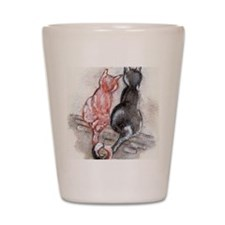 Cat Mates Shot Glass