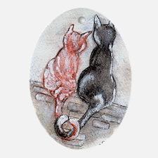 Cat Mates Oval Ornament