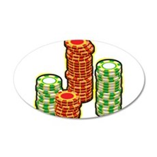 Poker Chips Wall Decal