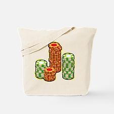 Poker Chips Tote Bag