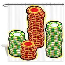 Poker Chips Shower Curtain