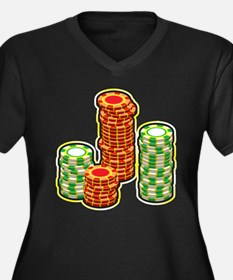 Poker Chips Plus Size T-Shirt