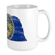 Nebraska Flag Map Mug