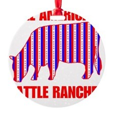ALL AMERICAN CATTLE Ornament