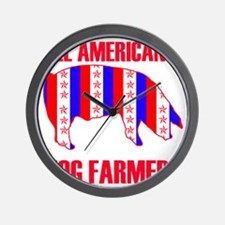 ALL AMERICAN HOG copy 2 Wall Clock