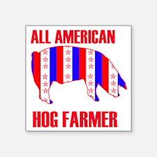"ALL AMERICAN HOG copy 2 Square Sticker 3"" x 3"""