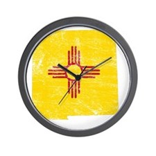 New Mexico Flag Map Wall Clock