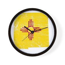 New Mexico Flag Map Wall Clock