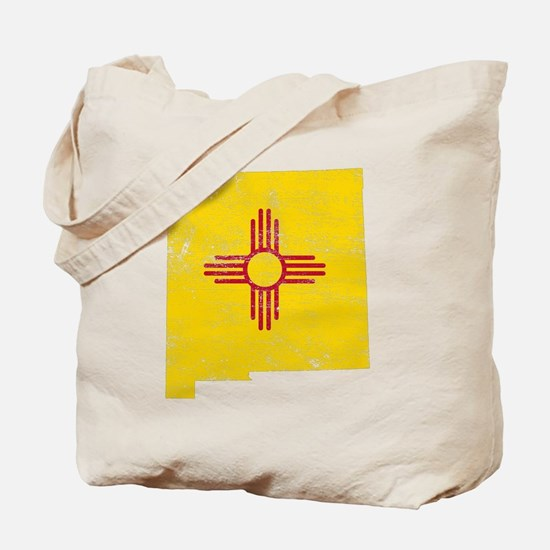 New Mexico Flag Map Tote Bag